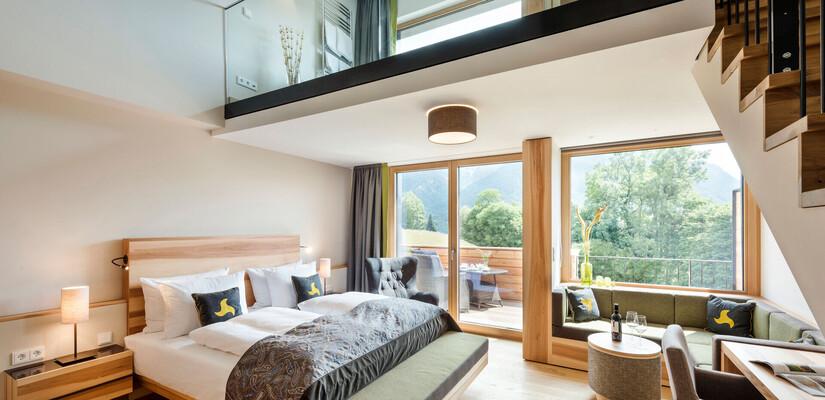 SPA Loft Zimmer - einzigartiges Hotelzimmer mit Whirlpool und Panoramabalkon