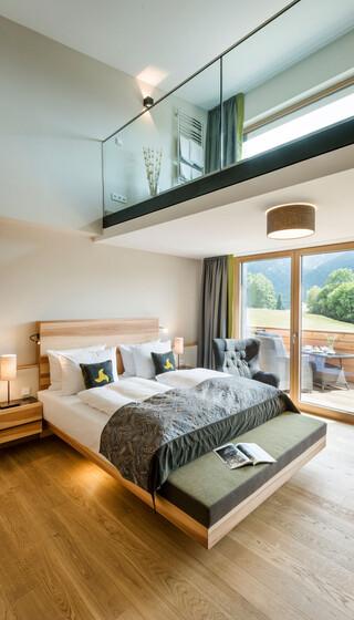 Spa-Loft-Suite Panormablick im Wellnesshotel Klosterhof in Bayern